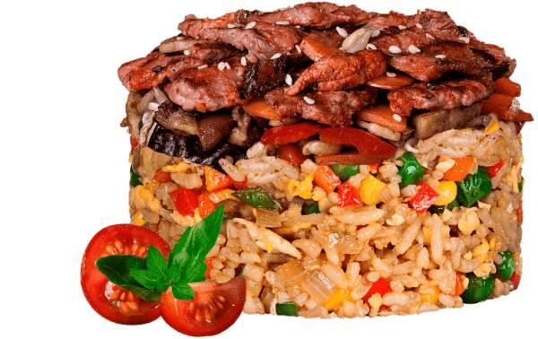 Жареный рис по тайски с телятиной