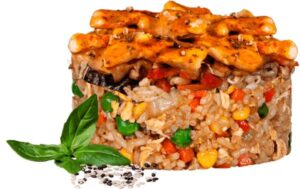 Жареный рис по тайски с курицей