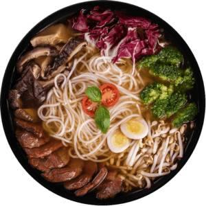 Рамен суп с телятиной и овощами