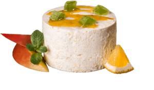 Манговый мусс с апельсиновым соусом