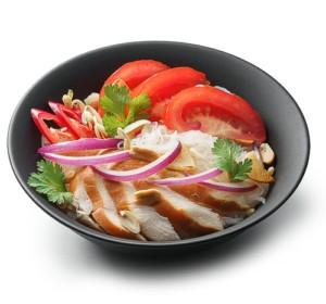 С маринованным лососем и овощами