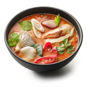 Суп с морским окунем и лаймом